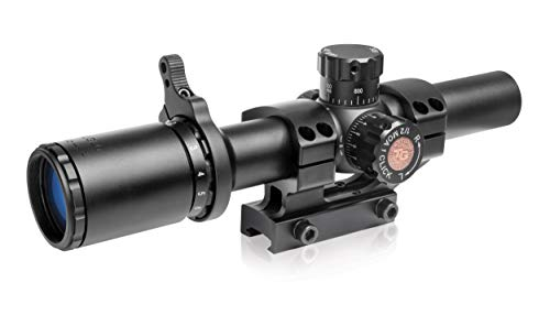 TRUGLO TRU-Brite 30 Series Illuminated Tactical Rifle Scope - Includes Scope Mount, 1-6 x 24mm