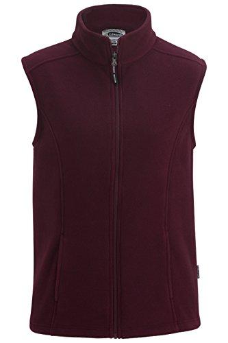 Ladies Microfleece Vest - Edwards Ladies' Microfleece Vest Maroon 2XL