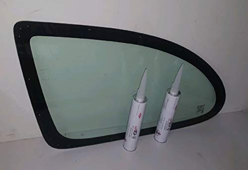 Coupe Quarter Glass - Mirrex DIY Quarter Glass Driver/Left Side Toyota Echo 2 Door Coupe 2000-2005 Green Tint Glass Only