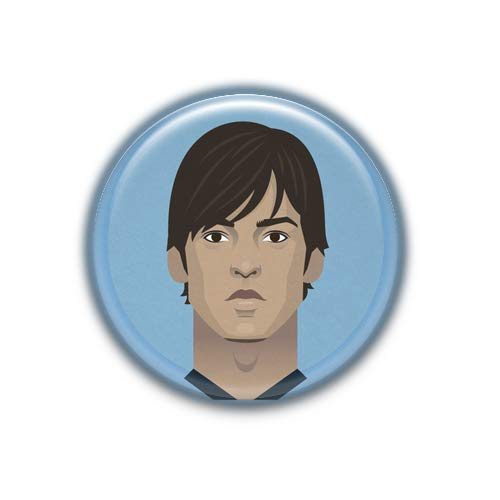 David Silva : Football Stars, Pinback Button Badge 1.99 Inch (38mm)