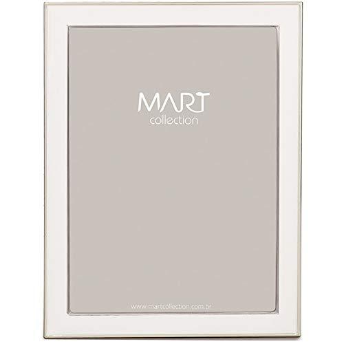 Porta-Retrato em Metal - Mart Branco Mart Collection 20 X 25