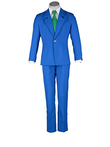 Mtxc Men's Case Closed Cosplay Jimmy Kudo School Uniform Size XXX-Large Blue for $<!--$83.00-->
