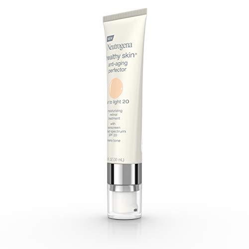 Neutrogena Healthy Skin Anti-Aging Perfector Tinted Facial Moisturizer and Retinol Treatment with Broad Spectrum SPF 20 Sunscreen with Titanium Dioxide, 20 Fair to Light, 1 fl. oz
