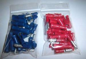 Natural Page (60) Male & Female Car Audio Quick Disconnect Wire Bullet Connector Red & Blue Terminals