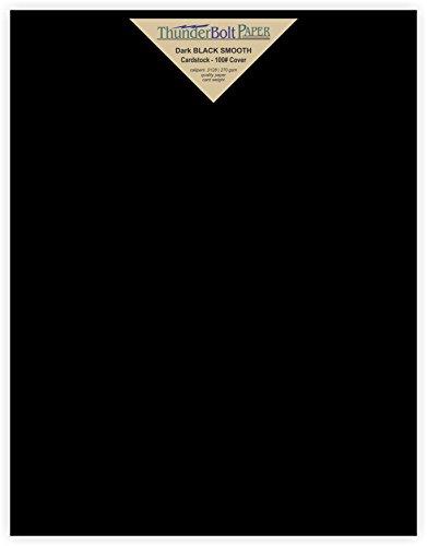 20 Dark Black Smooth Card Sheets - 100# (100 lb/pound) - 8 X 10 ...