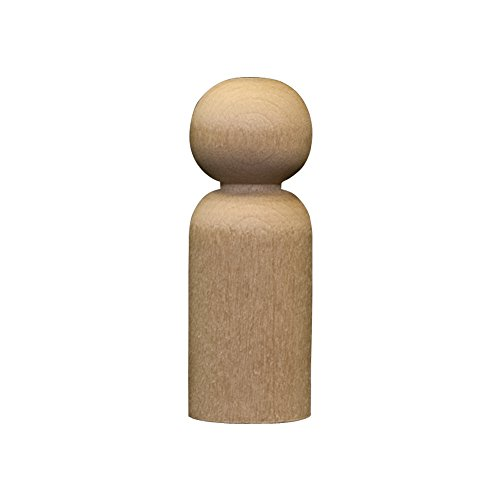 Boy Peg (Wood Doll Bodies - Boy 1-11/16 inch - Bag of 100)