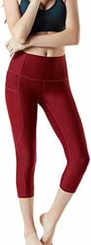 7ce5483ef3aaf7 ZEFOTIM Casual Pants for Women's High Waist Hip Fitness Seven Points Yoga  Pants Running Pants