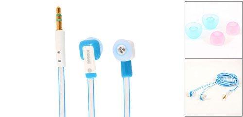 Amazon.com: eDealMax 3.5mm Plana de 150 cm de Cable en la oreja del auricular Blanco Rojo Para ordenador PC MP4: Electronics