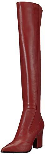 Sam Edelman Women's Natasha Over The Over The Knee Boot, Tango red Leather, 7.5 M US