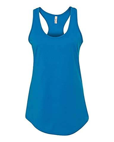 Next Level Apparel Women's Ideal Racerback Tank - Medium - Turquoise - Turquoise Tear