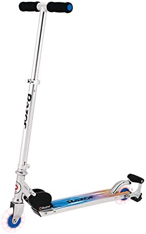 Razor Spark Ultra Kick Scooter with Super Bright LED Wheels – Blue