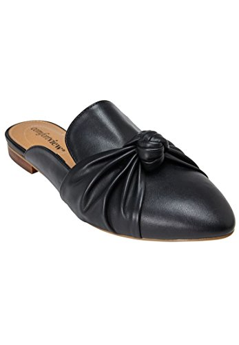 Comfortview Womens Wide Ceclilia Mules Black