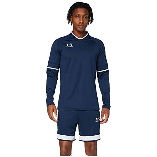 chollos oferta descuentos barato Under Armour Challenger III Midlayer camiseta de hombre para hacer deporte indispensable ropa de deportes hombre Azul Academy Halo Gray Halo Gray 408 XL