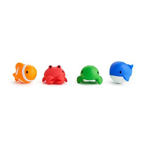 Munchkin Juguetes del Mar para Bañera, 4 piezas, multicolor, Colores y estilos pueden variar