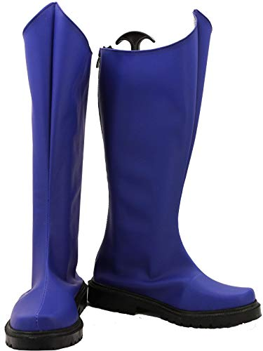 GOTEDDY Adult Superhero Peter Cosplay Boots Halloween Blue Costume Shoes ()