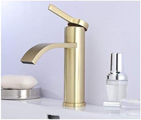 WXQ-XQ 蛇口つや消しゴールドデッキマウント流域ミキサータップシングルハンドル洗面所の蛇口を使用し毎日、耐久性に優れました