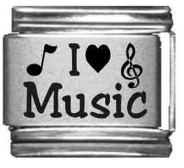 I Heart Music Laser Italian -