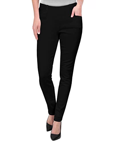 HyBrid & Company Womens Super Comfy Millenium Twill Pants KP47812 Black L by HyBrid & Company