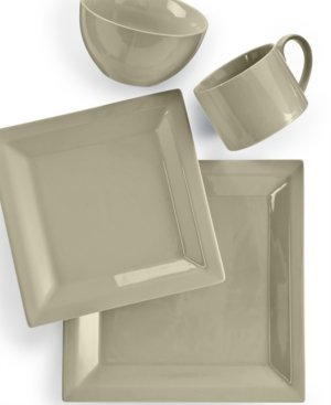 Martha Stewart Collection Harlow Oyster Shell Square 4-Piece Place Setting (Dinnerware Martha Stewart)