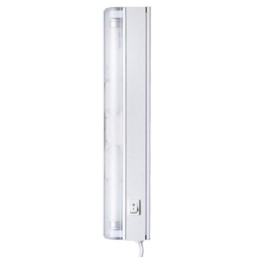 Good Earth Lighting 12-inch Plug In Under Cabinet Light - White - High Performance Fluorescent Task Lamp