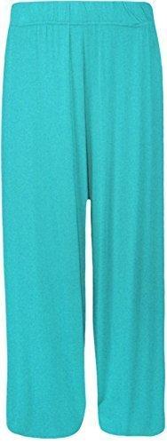 Nuovo taglia unica Plus da pantaloni da donna a campana gamba pantaloni 8