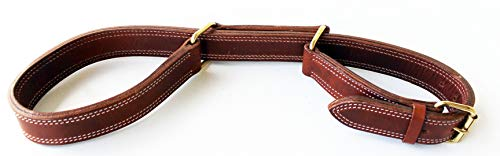 CHALLENGER Horse Hobble Amish Harness Leather Western Adjustable Figure Eight Brass 977RT01