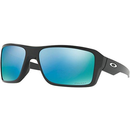 Oakley Men's Double Edge Polarized Sunglasses,Matte - Deep Polarized Oakley Water Prizm