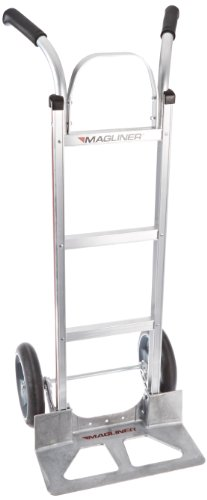 Magline HMK116UAB Aluminum Hand Truck, Flared Double Pistol Grip Handle, Cushion  Wheels, 500lbs Capacity