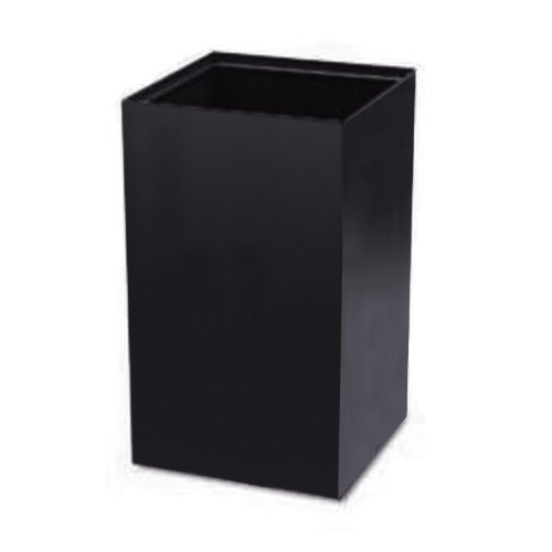 Safco 2981BL Public Square Recycling Container, Square, Steel, 25gal, Black