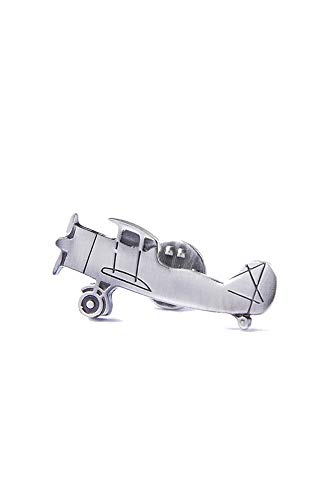 Men's Premium Biplane Airplane Plane Aviation Metal Lapel Pin
