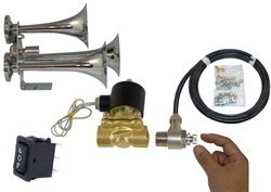 This is a 200 Decibel Train Horn UPGRADEchanging out the small 1/4' Valve to 1/2' and includes an adjustable airflow controller. Horn not included Airbagit HORN-TRAIN-00