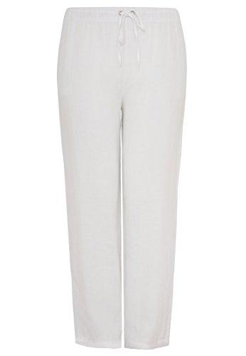Yoek Damen Große Größen Hose Leinen Weiß 39mwsUGLHi