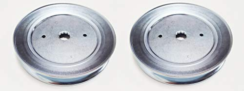- Craftsman Set of 2 Pulleys, Replaces Spindle Pulley Part Numbers: 129861, 153535, 173436, 177865 Poulan Husqvarna