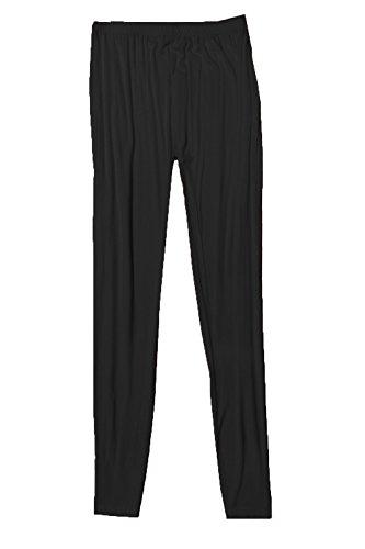 Urban Diva - Camiseta de manga larga - con volantes - Básico - Manga Larga - para mujer negro