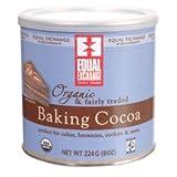 Equal Exchange Organic Baking Cocoa, 8 Ounce - 6 per case.