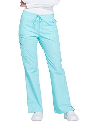 Dickies Everyday Scrubs Signature by Women's Mid Rise Drawstring Cargo Pant Medium (Everyday Scrubs Flare Leg)