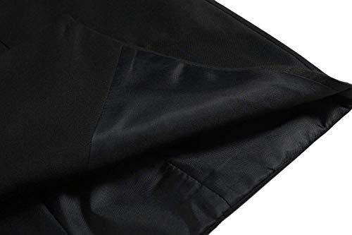 R Nero Doppio Blu Gilet Grigio Schwarz Solido Taglie Marrone Matrimonio Aziendale Petto Da Abito Scollatura Hx Uomo Fashion Comode Abiti V F w0B1a7gq