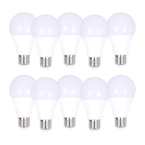 europalamp - Lote de 10 bombillas LED E27 7 W 2700 K: Amazon.es: Iluminación