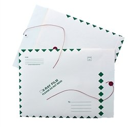 X-Ray Film Mailers - String & Button, 15''H x 18''W, 11pt Manila Green Diamond (Box of 50)