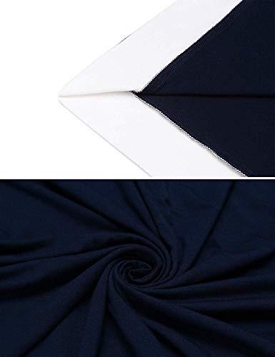 Navy Corta Para Vestido Cuello Especial Dormir Manga blau Suelta Estilo En V Con Mujer Camisa Falda De Verano Camisón pT8SHp