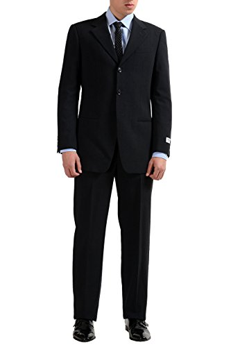 Armani Collezioni Charcoal Men's 100% Wool Three Button Suit US 38R IT 48R