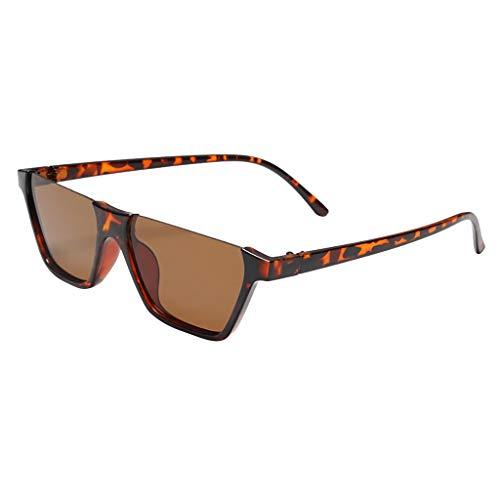 LODDD Women Men Sunglasses Retro Eyewear Fashion Large Frame Radiation Protection ()