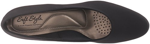 Soft Style by Hush Puppies Angel II Fibra sintética Tacones Black Peau De Soire
