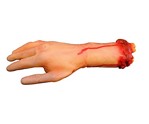 Severed Bloody Hand Haunted Halloween Gory Arm Prop