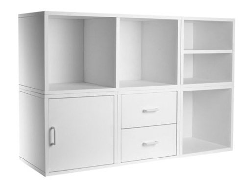 Foremost 340001 Modular 5-in-1 Shelf Cube Storage System, White by Foremost