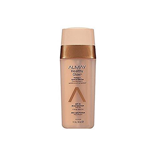 Almay Base de Maquillaje con Autobronceador para Rostro, Light/Medium, 30 ml