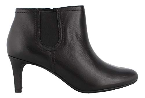 Clarks Women's Dancer Sky Fashion Boot, Black Leather, 6 M US