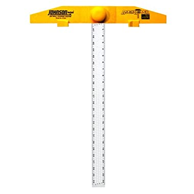 Johnson Level & Tool RTS24 RockRipper 24-Inch Drywall Scoring Square – Aluminum Blade T Square, Durable and Strong. Carpentry Tools