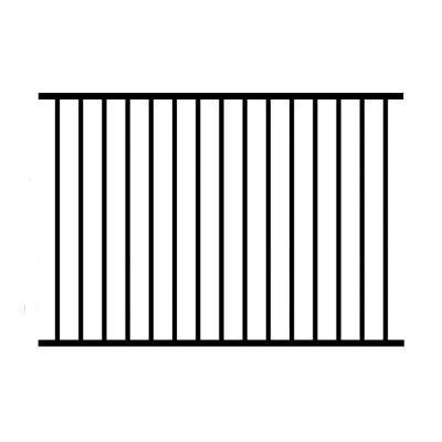Allure Aluminum 4 ft. H x 6 ft. W Aluminum Black Unassembled Metropolitan 2-Rail Fence Panel