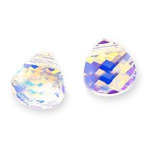 Swarovski Crystal, #6012 Briolette Pendants 11x10mm, 2 Pieces, Crystal ()